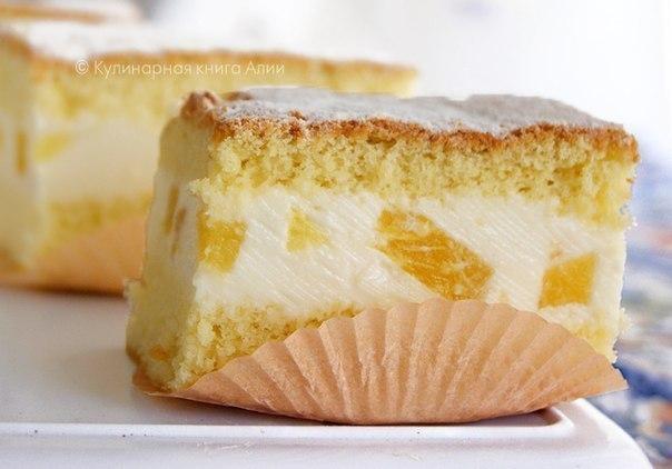 Творожный бисквит с творожным кремом рецепт