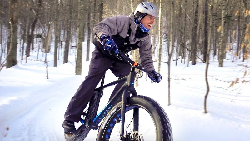 🎶 Crashing through the snow 🎶 Fatbiking E47 ÉcoSentiers in Lac-Delage, Quebec