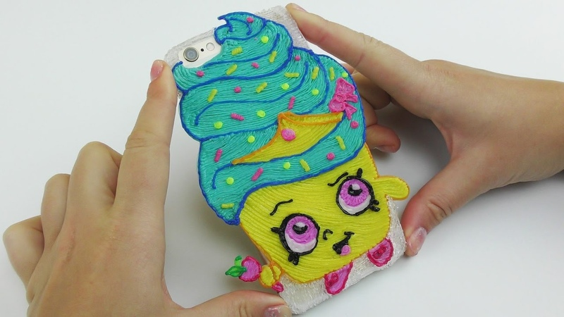 DIY Shopkins Princess Cupcake iPhone Case Drawing with 3D Pen
