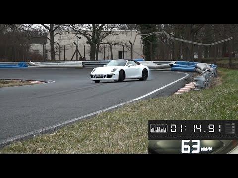 2015 Porsche 911 Carerra 4 GTS à Montlhéry tour chronométré avec l'essayeur d'AutoMoto