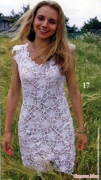 Платье цветочными мотивами (3 фото) - картинка