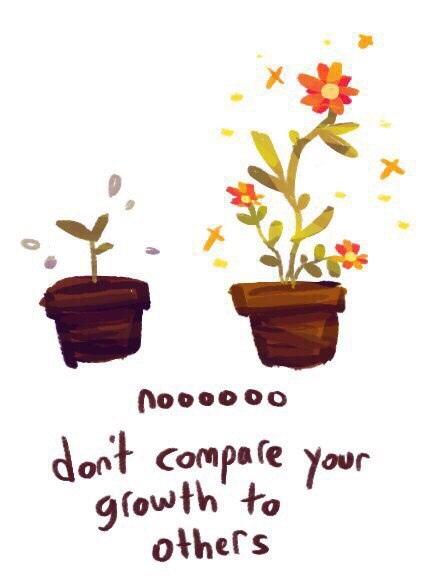 нееееет не сравнивай себя с остальными прежде всего, посмотри, как ты вырос!