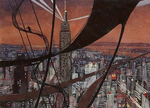 Иллюстрации к роману Рэя Брэдбери «451 градус по Фаренгейту» Автор: Андрей Соколов (1931-2007)