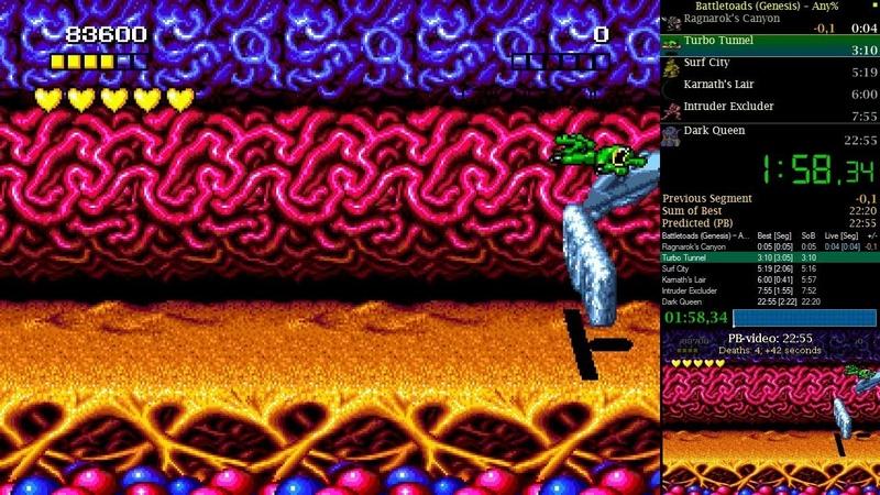 Battletoads (Sega Genesis): Any% speedrun in 22:37 [PB, 30.01.2019]