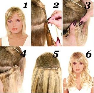 Как одевать накладные волосы на заколках
