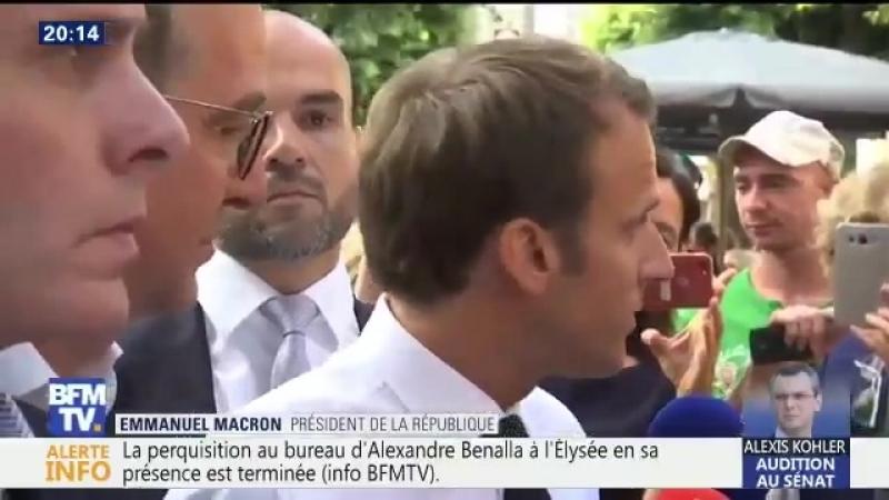 Affaire Benalla - Macron : je suis fier de l'avoir embauché à l'Elysée - Il s'enfonce