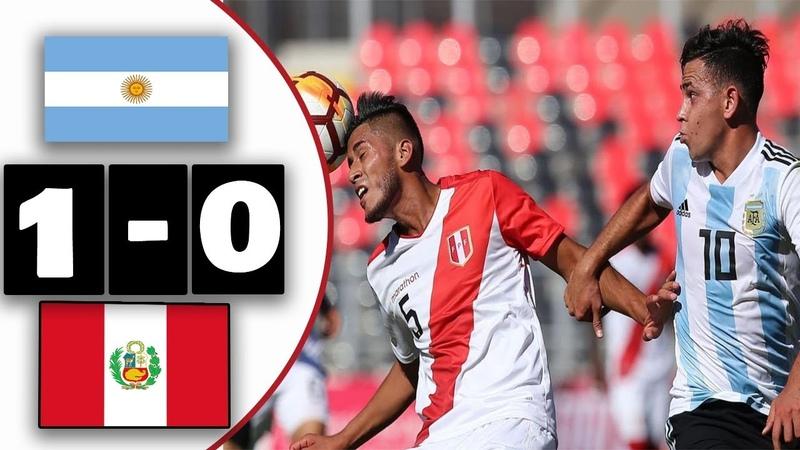 Argentina Vs Perú 1 0│Resumen y Gol│Sudamericano Sub 20 2019