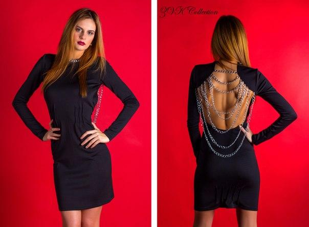 Платья с открытой спиной с цепочкой
