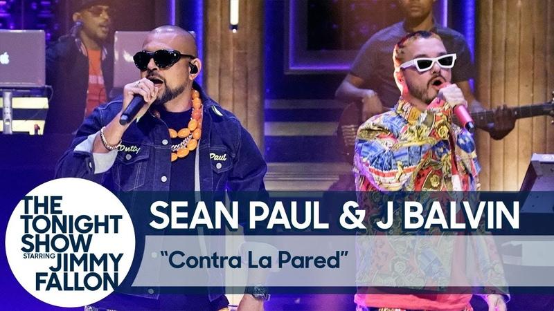Sean Paul J Balvin - Contra La Pared (The Tonight Show Starring Jimmy Fallon)