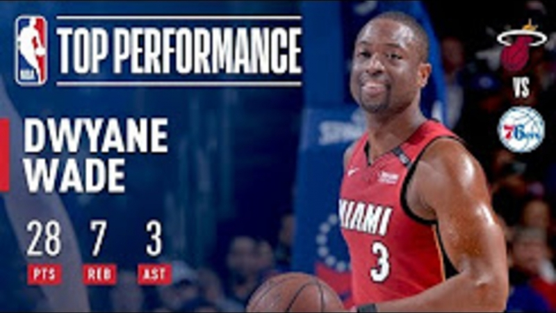 Dwyane Wade With A Vintage Performance in Philly