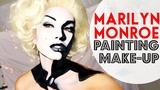 Black &amp White Marilyn Monroe Makeup Painting