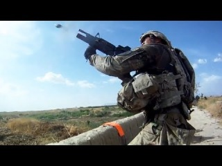 Grenade Launchers Fired At Taliban Ambush Positions During Firefight