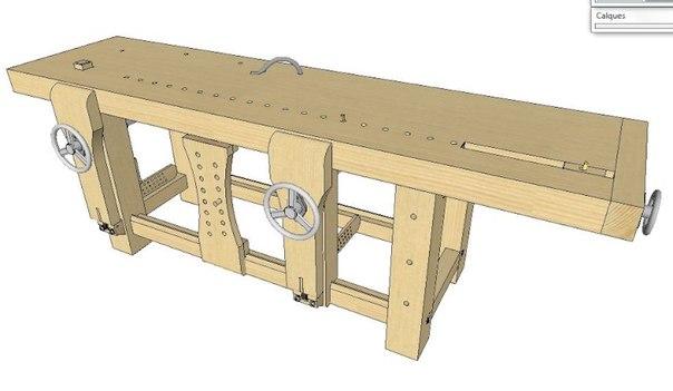 - Construction etabli en bois ...