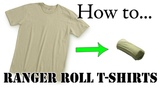Army Packing Hack How to Army Fold a T-Shirt, Basic Training Style - The Best Ranger Roll Tutorial