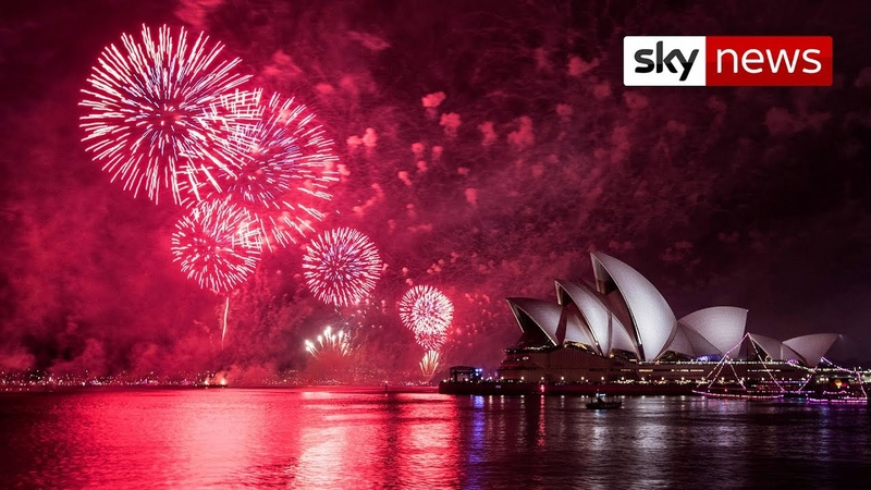 Watch Moment Australia welcomes in 2019