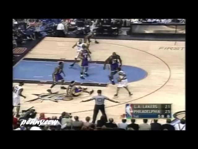 Allen Iverson 37pts vs Kobe Shaq the Lakers 00/01 *NBA Finals Game 5