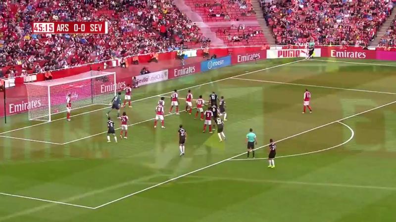 Petr Cech Vs Sevilla Home Emirates Cup 2017 HD 1080i