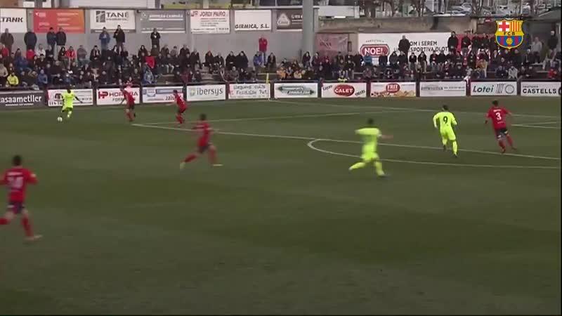 [HIGHLIGHTS] Així ha estat l'empat del Barça B al camp de l'Olot amb gol de Merveil 1-1 A.mp4