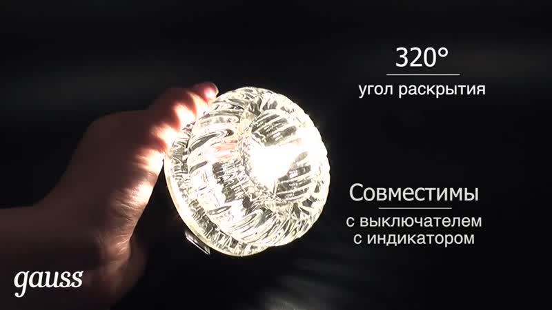 Высокомощные капсульные лампы Gauss. Новинка 2017!