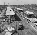 Строительство станции метро Ждановская, 1966 год.