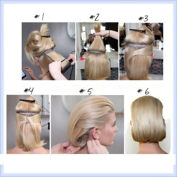 Как уложить короткие волосы пошагово