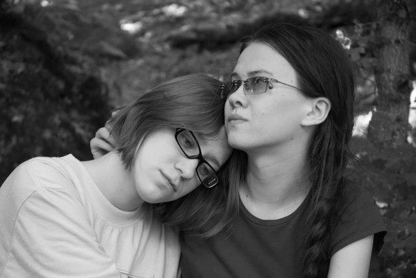 черно-белое, Никон 18-70, девушки