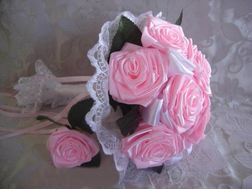 Свадебный букет из ленты