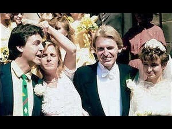 ♫ Paul McCartney and Linda McCartney on his brother Mikes wedding, 1982 photos