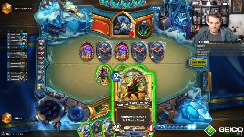 [Mental: Pro Players Reloaded and Funny Moments] Kibler plays Shudderwock Murloc Shaman in LEGEND / The BoomsDay Project