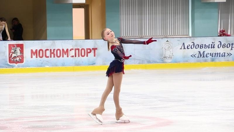 Софья Муравьёва ПП Sofia Muravieva FS Первенство Москвы старшего возраста 2019