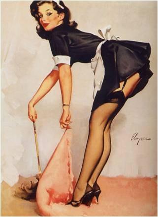 Светские дамы в чулках с поясом