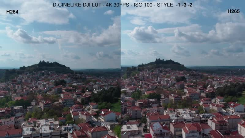 H.265 VS H.264 - D-Cinelike comparison