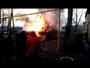 Возгорание гаражей из-за проводки. На против дома Ивана Булкина 38
