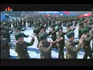 ТВ КНДР об участии Ким Чен Ына в выборах в Верховное народное собрание КНДР.