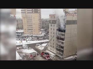 На северо-западе вспыхнула квартира