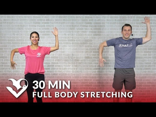 30 Minute Full Body Stretch Routine - Total Body Stretching Exercises Flexibility Stretches