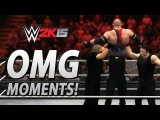 WWE 2K15: All OMG Moments Including The Shields Triple Powerbomb!