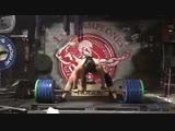 Аманда Лоуренс - тяга 250 кг!