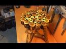 Sanat eseri natural odundan tabure sehpa yapımı