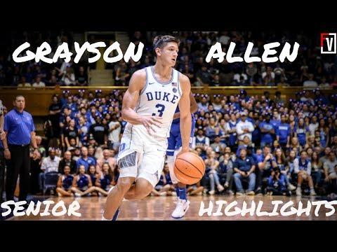 Grayson Allen Duke Senior Season Highlights   15.5 PPG, 4.6 APG