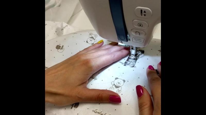 процесс создания одеялка-конверта