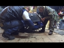 Как натянуть гусеницу на Мотобуксировщике Барс Следопыт