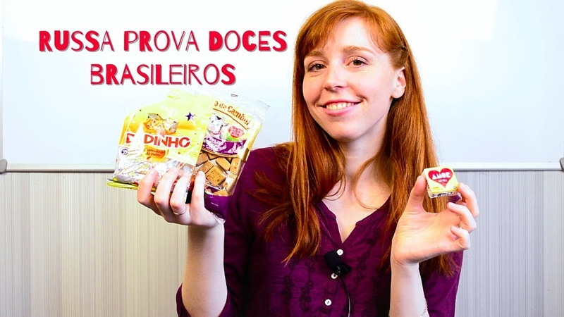 RUSSA PROVANDO DOCES BRASILEIROS