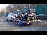 Транспортировка двух квадроциклов(ATV) на прицепе SB-TRAILE
