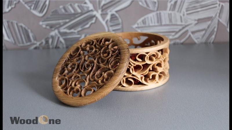 Фрезеровка шкатулки на поворотной оси / Milling wooden box on rotary axis