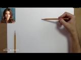 [Азбука Рисования] Как нарисовать лицо человека. Построение и пропорции лица.