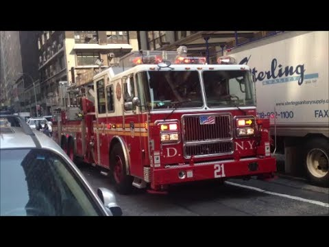 FDNY Responding Compilation 1 Full of Blazing Sirens Loud Air Horns Throughout New York City