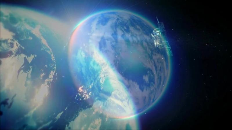 Приближение со спутника на Землю