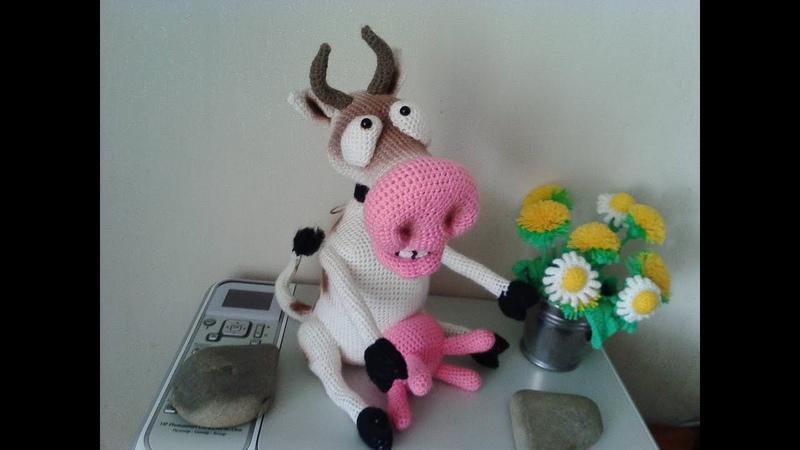 Веселая корова, ч.1. Cheerful cow, р.1. Amigurumi. Crochet. Амигуруми. Игрушки крючком.