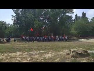 Митинг против повышения пенсионного возраста в Махачкале